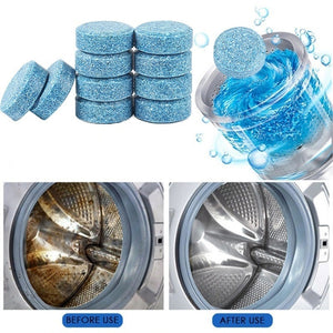 10 Pcs Washing Machine Cleaner Washer Cleaning Washing Machine Cleaner Laundry Soap Detergent Effervescent Tablet Washer Cleaner