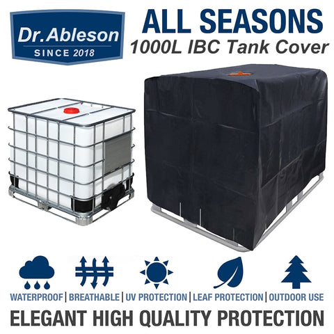 Durable 1000 Liters IBC Tank Cover Outdoor Garden Container Storage Bag Waterproof Dust Cover Sunshade Covers With Drawstring