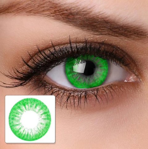 cosplay flower fire bright green turquoise (12 months) contact lenses