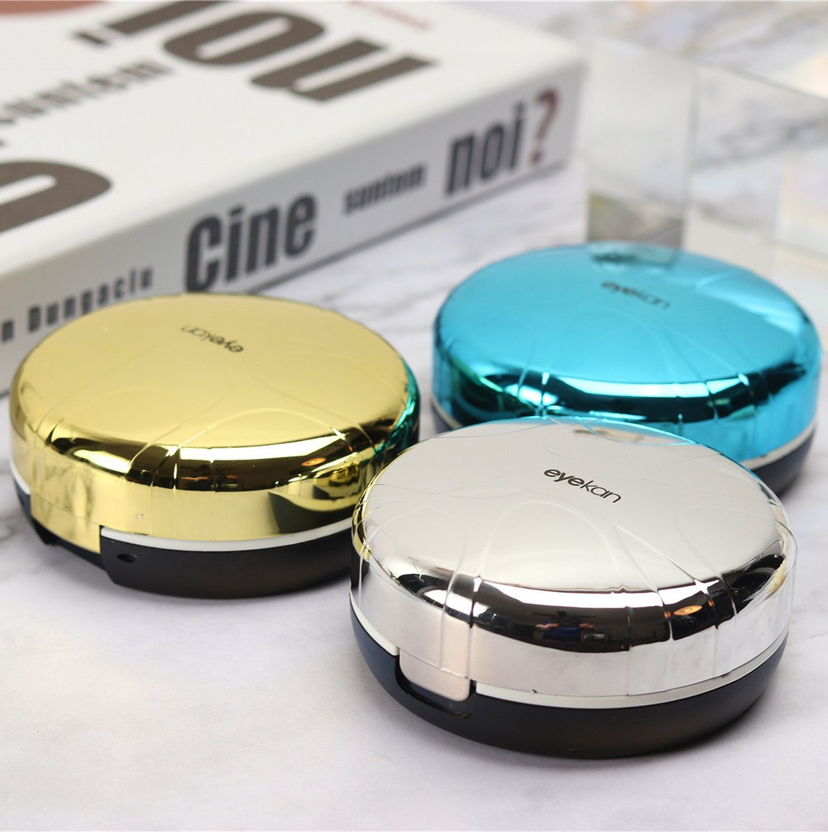 Contact lens case cleaner / frog ultrasonic contact lens cleaner(Contains tweezers and suction stick)