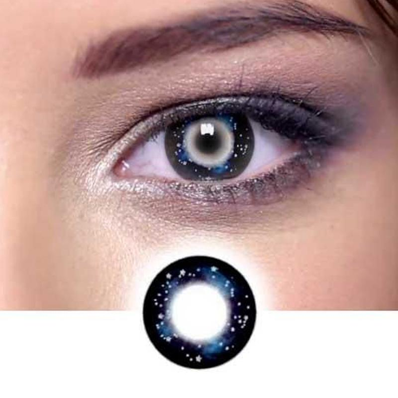 Cosplay black pupil starry sky (12 months) contact lenses
