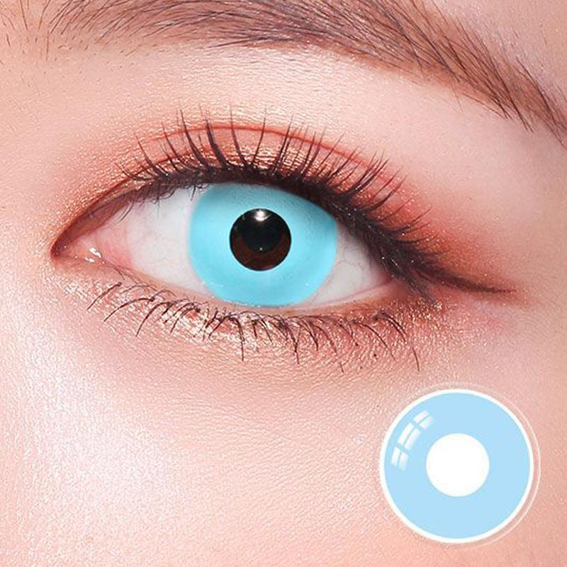 cosplay light blue (12 months) contact lenses