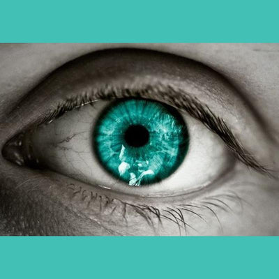 Bright green  turquoise (12 months) contact lenses