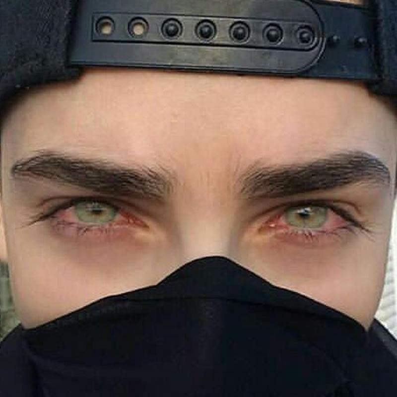 Men's light candy green eyes (12 months) contact lenses