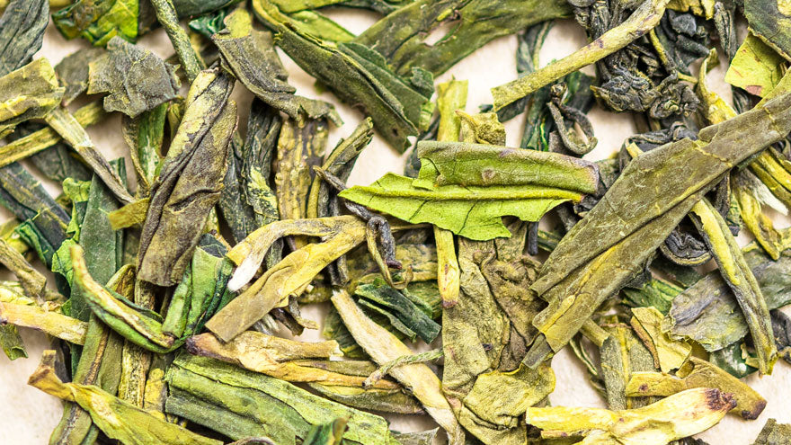 close-up-shot-lung-ching-dragonwell-green-tea