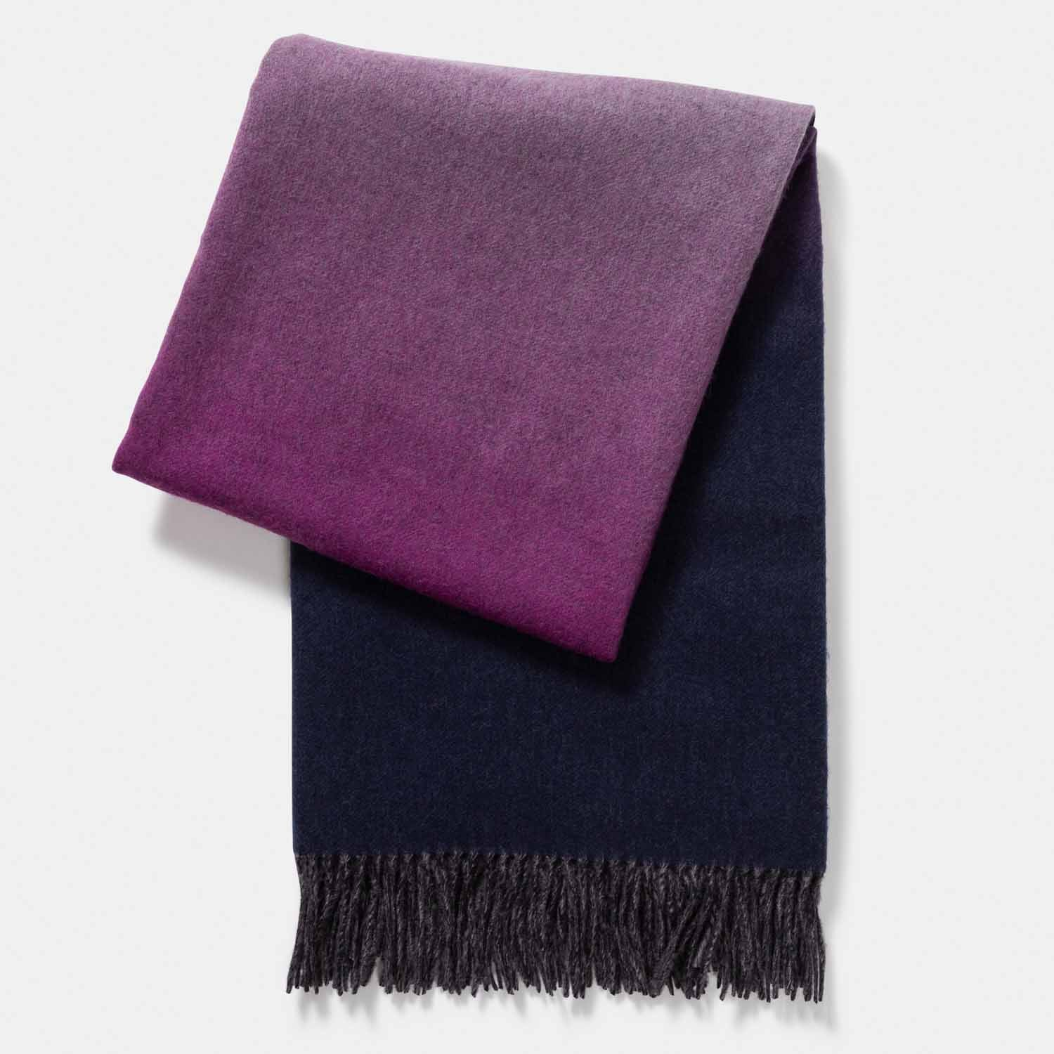 Cashmere Blend Ombre Throw-Amicale Cashmere