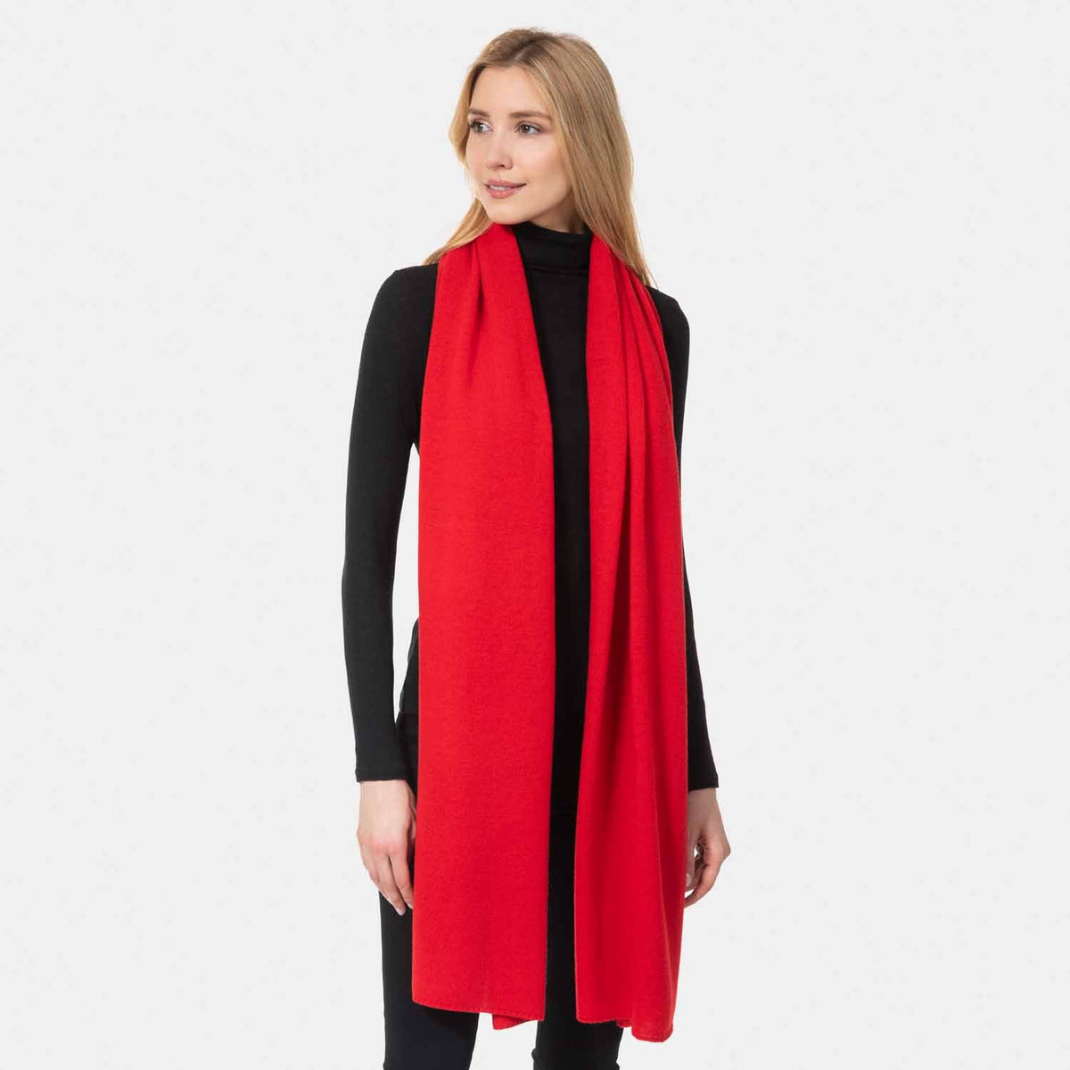 Cashmere Jersey Travel Wrap-Amicale Cashmere