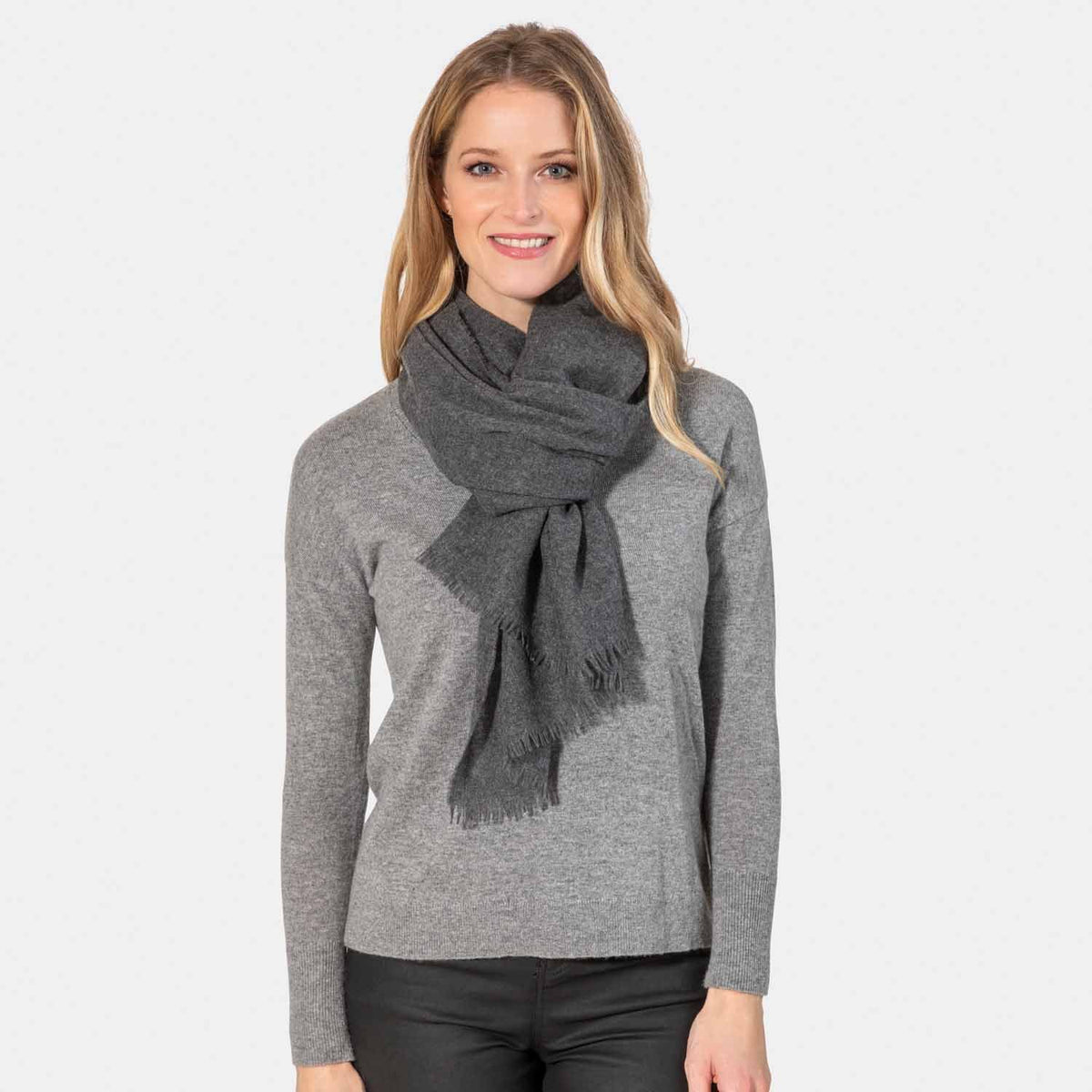 Felted Gauze Cashmere Scarf-Amicale Cashmere