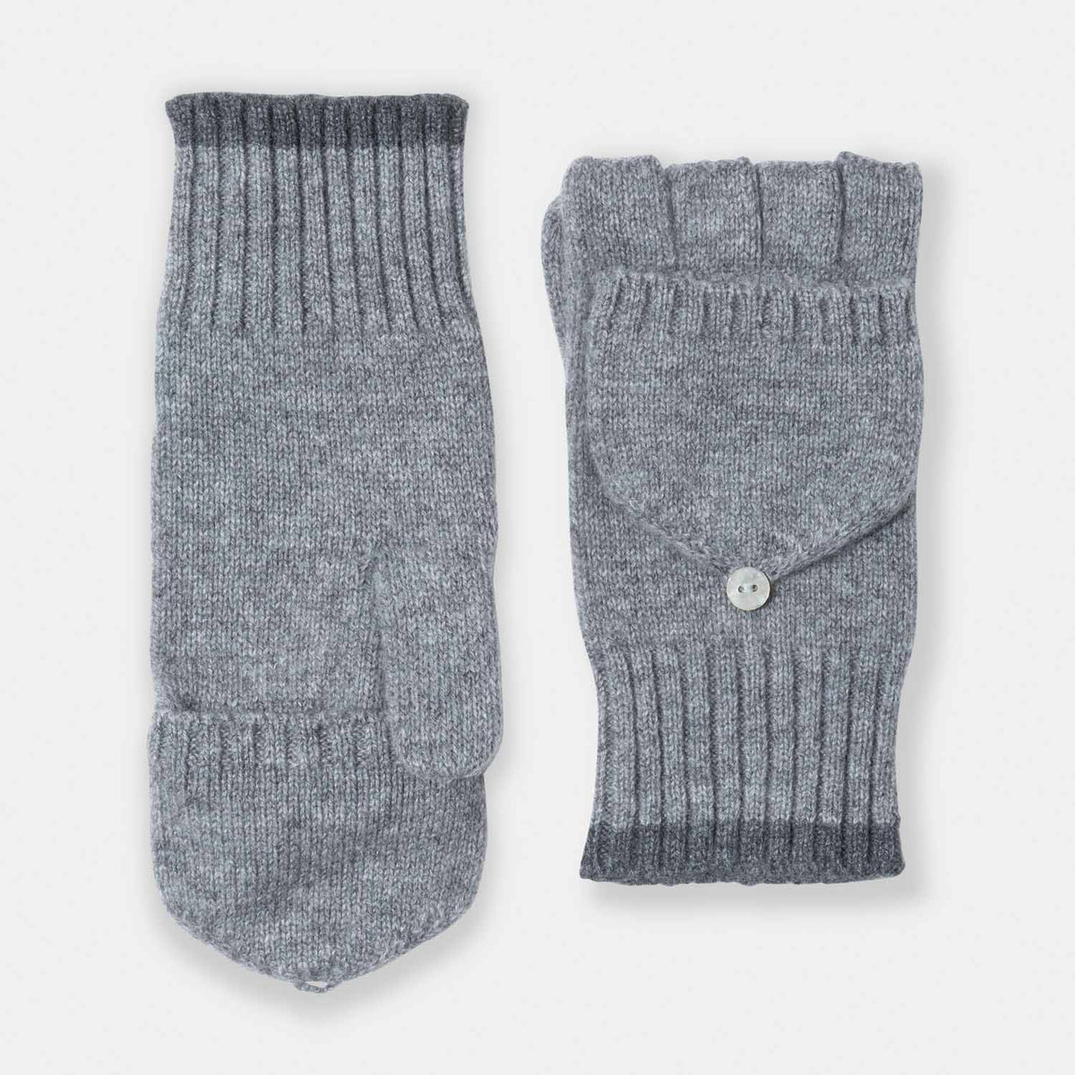 Short Pop Top Glove with Cuff-Amicale Cashmere