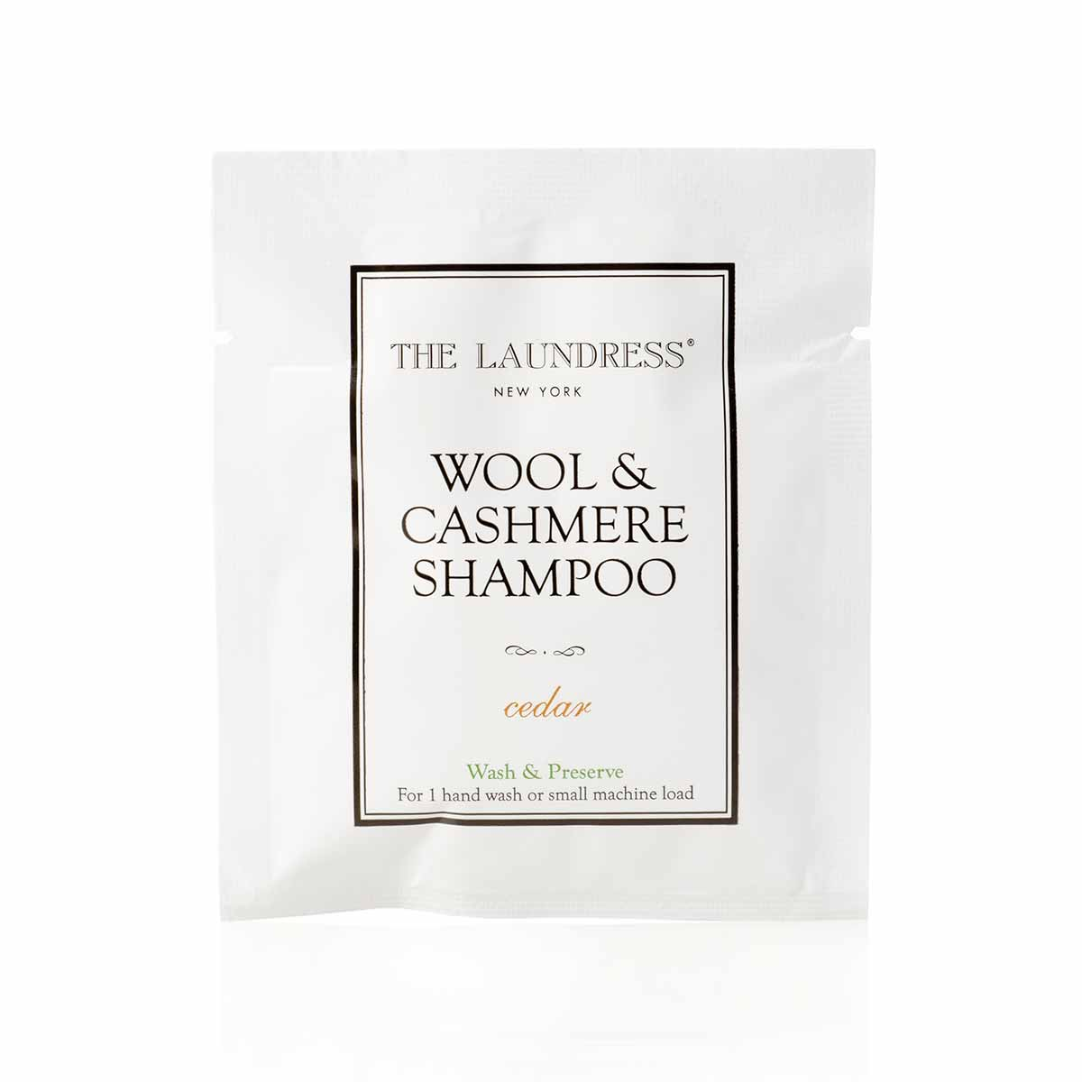 The Laundress Wool & Cashmere Shampoo Sachet-Amicale Cashmere