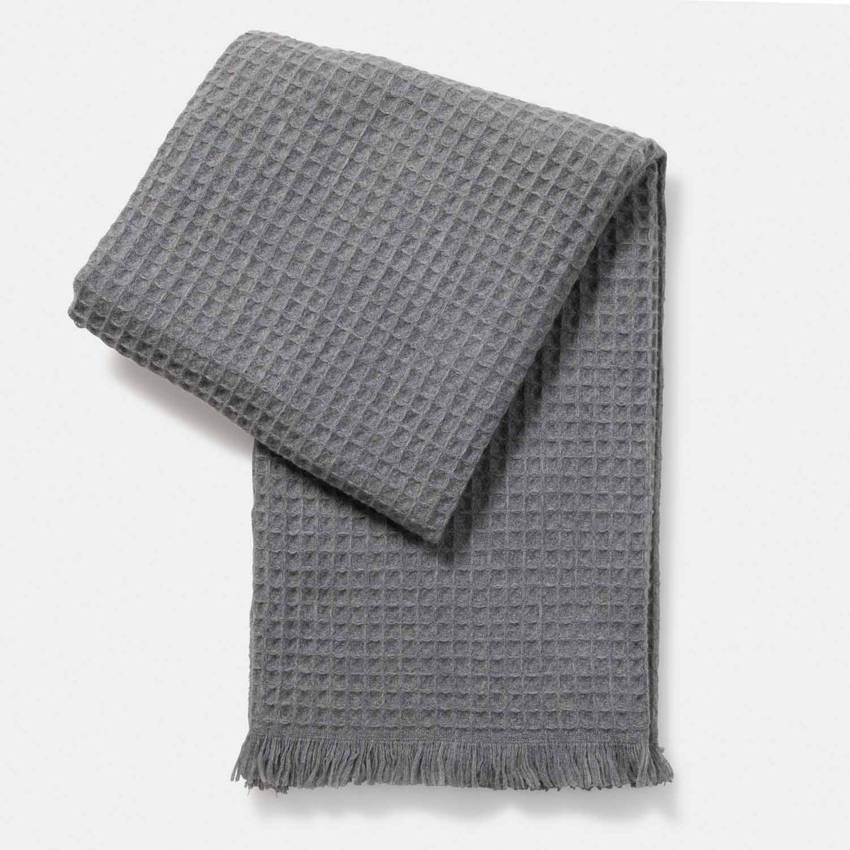 Thermal Stitch Woven Throw-Amicale Cashmere