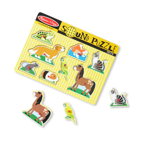 Melissa & Doug - Pets Sound Puzzle (8 Pieces)