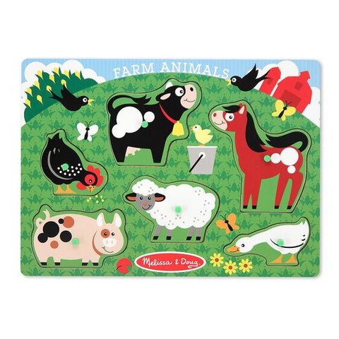 Melissa & Doug - Animal Peg Puzzle