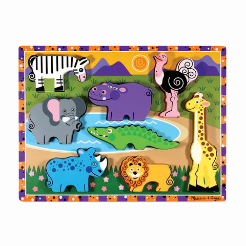 Melissa & Doug - Safari Chunky Puzzle 8 Pieces