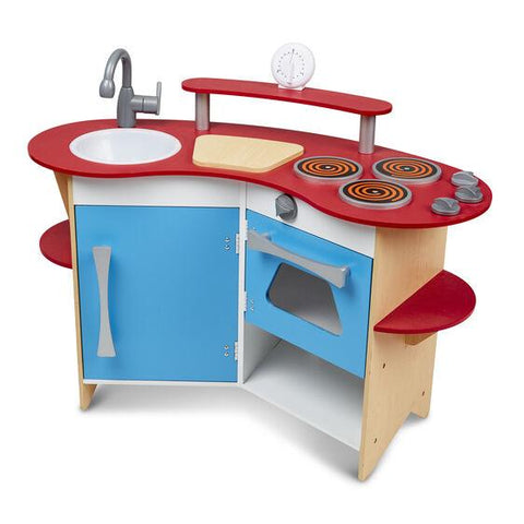 Melissa & Doug - Cook's Corner Wooden Play Kitchen