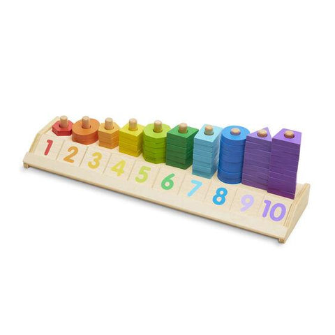 Melissa & Doug - Counting Shape Stacker