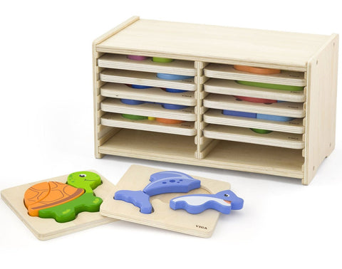 Viga - Block Puzzle 12pcs Set / Storage Shelf