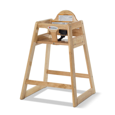 Copy of Chaise haute en bois - Naturel / Wood high chair - Natural