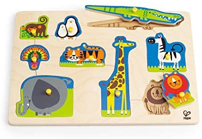 Hape - Wild Animals Peg Puzzle