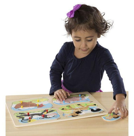Melissa & Doug - 4 in 1 Farm Puzzle