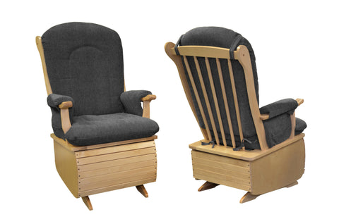 Kidicare - Wooden Rocking Chair with Cushion