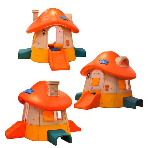 Kidicare - Outdoor Toy Orange Mushroom House