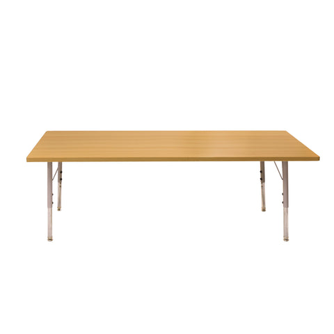 Kidicare - Rectangular Table - Natural Wood Finish