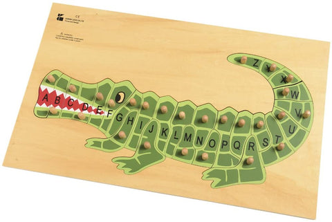 Edu Shapes - Alphabet Puzzle Crocodile