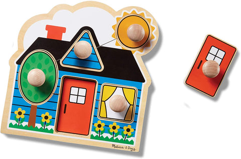 Melissa & Doug - First Shapes Jumbo Knob House 5 Pieces