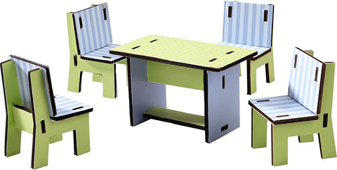 Haba - Dollhouse Dining Room Furniture (Little Friends)