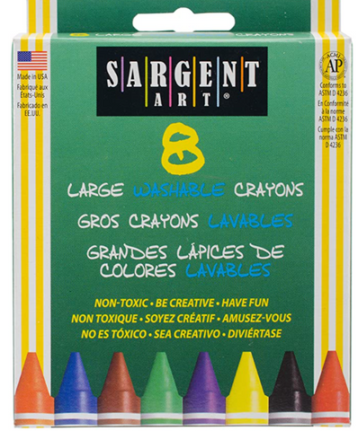 Sargent Art - Large Washable Crayons (8)