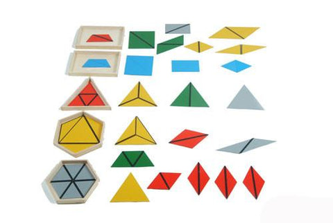 Montessori Construction Triangles - 5 boxes