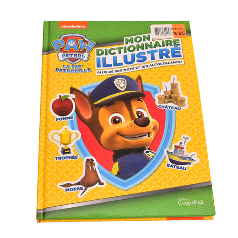 Kidicare - Dictionary Book ''Paw Patrol'' (French Edition only)