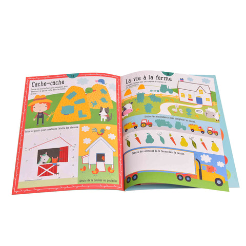 Kidicare - Activity Book and Stickers '' Vive la Ferme'' (French Edition only)