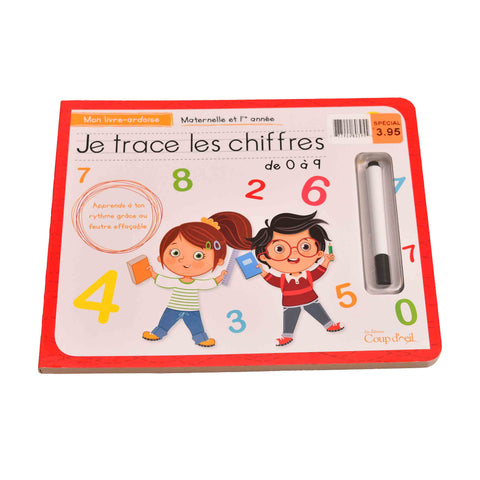Kidicare - Educational Book ''Je trace les lettres/ les chiffres'' (French Edition only)