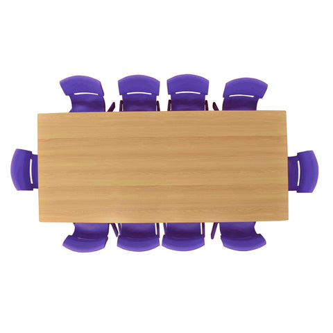 Kidicare - Ensemble table (36 x 72'') - 10 chaises en plastique