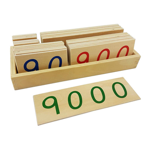 Montessori - Large Paper Number Cards With Box