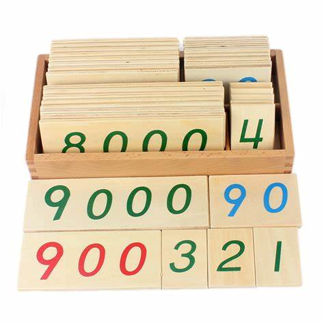 Montessori - Small Wooden Number Cards with Box HTM0134
