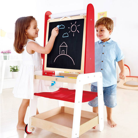 Hape - Wooden Art Easel with Storage