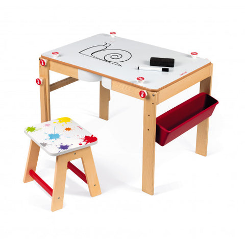 Janod - Splash 2 in 1 Convertible Desk