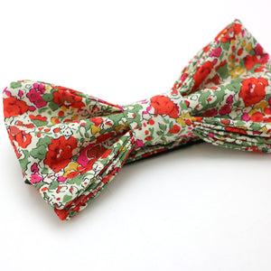 BOYS TIE 'LIBERTY' FLOWER RED