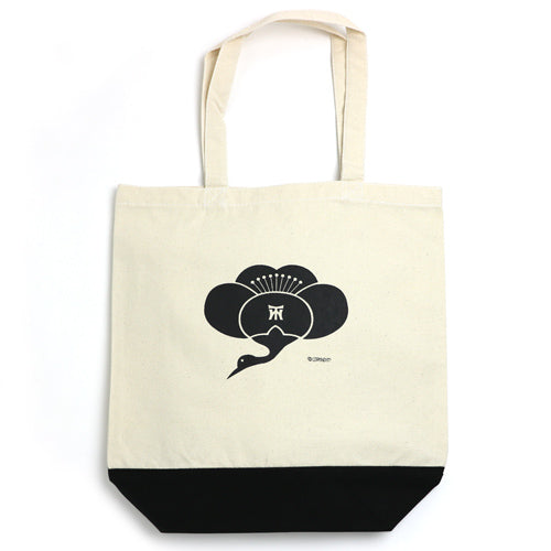 UMETSURU TOTE BAG -NAT/BLACK-