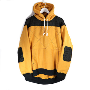 BIG HOODIE KILTING MIX -YELLOW-