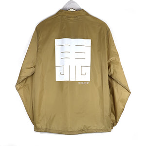 EAST LOGO COACH JACKET -BEIGE-