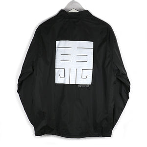 EAST LOGO COACH JACKET -BLACK-