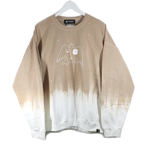 FACE 4/3 DYED SWEAT SHIRTS -COCOA-