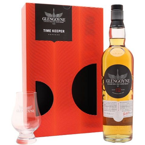 12yo Highland Single Malt Time Keeper Gift Set with Glass