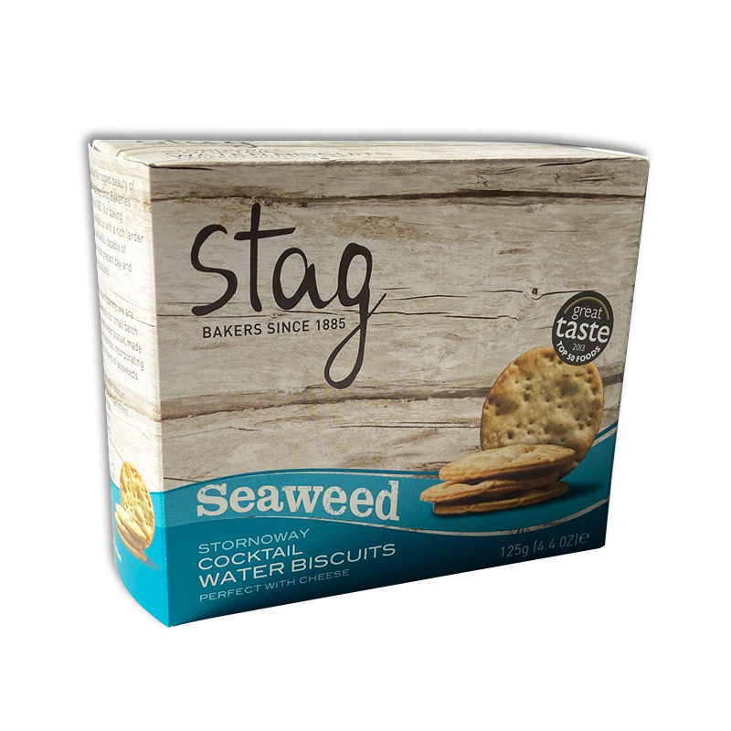 Stornaway Cocktail Water Biscuits with Seaweed 125g