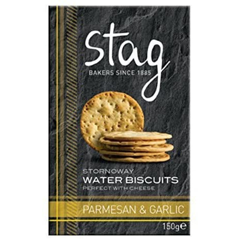 Stag Parmesan & Garlic Water Biscuits