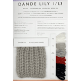 DANDE LILY(ダンデリリー)  1/1.3<br>KID MOHAIR55% NYLON30% WOOL15%<br />C/#222
